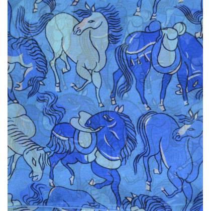 Carré de soie Dufy, Chevaux
