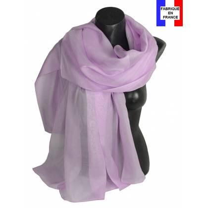 Etole soie cérémonie mauve made in France