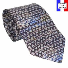 Cravate soie Zig Zag de Gaudi