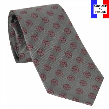 Cravate soie Monogramme gris de Toulouse Lautrec