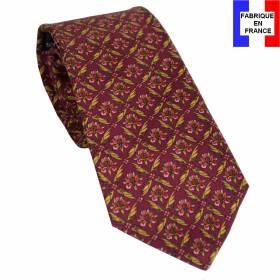 Cravate en soie Jones Perse 04 bordeaux