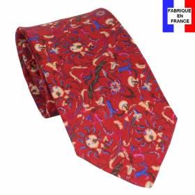 Cravate en soie Jones Italian rouge
