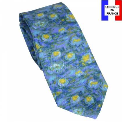 Cravate en soie Monet - Nymphéas