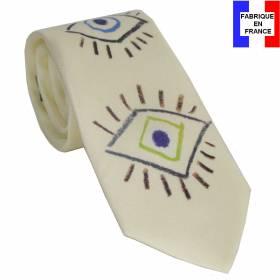 Cravate en soie Picasso - Oeil