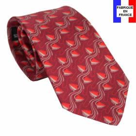 Cravate en soie Jones Greek rouge