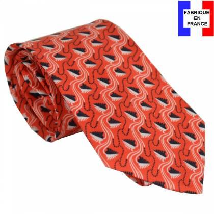 Cravate en soie Jones Greek orange