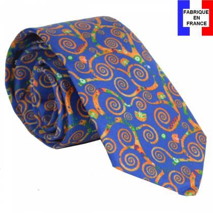 Cravate en soie Arbre de Vie de Klimt