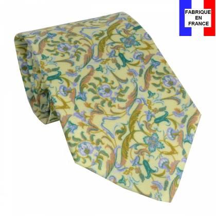 Cravate en soie Jones Italian jaune