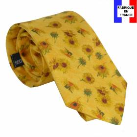 Cravate en soie Van Gogh - Tournesols jaune