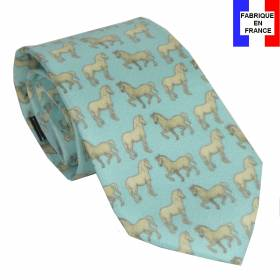 Cravate en soie Léonard de Vinci - Chevaux
