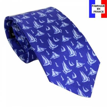 Cravate en soie Manet - Bateaux