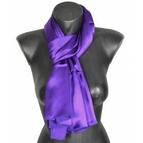 Echarpe en satin de soie violet