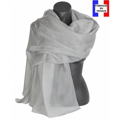 Etole soie cérémonie grise made in France