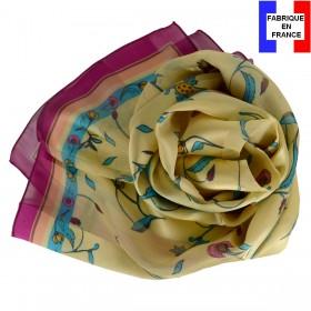 Echarpe en soie Fleurs Persanes