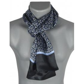 Foulard en soie homme encre noir-bleu