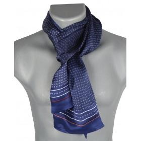 Foulard homme en soie goutte bleu