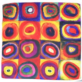 Petit carré en soie Cercles Kandinsky