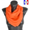 Carré en soie 88cm orange made in France