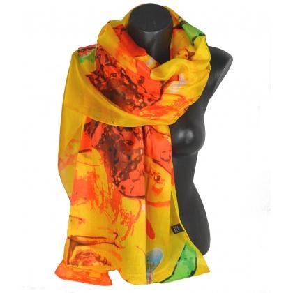 Etole en soie Chagall La musique