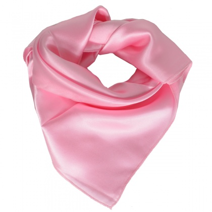 Petit carré en soie rose