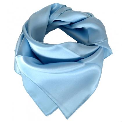 Petit carré en soie bleu clair