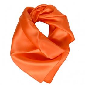 Petit carré en soie orange