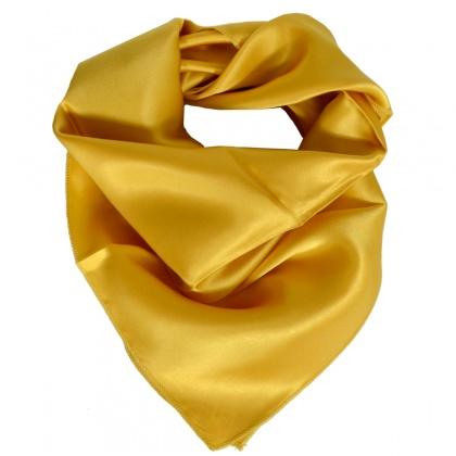 Petit carré en soie or
