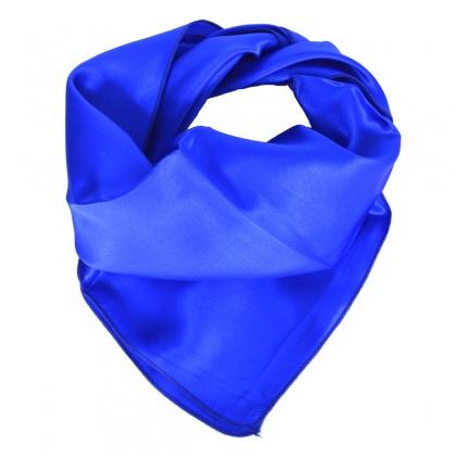 Petit carré en soie bleu roi