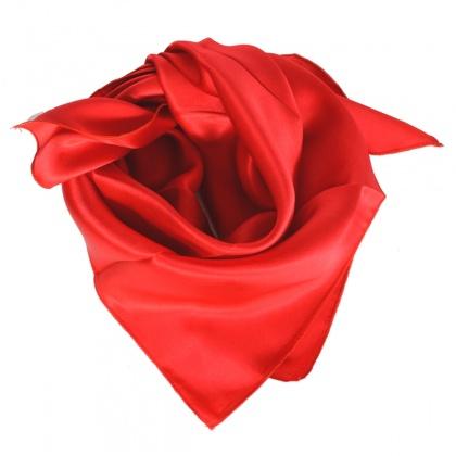 Petit carré en soie rouge