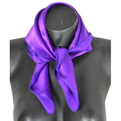 Petit carré en soie violet