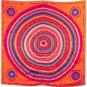 Carré soie cercles-orange