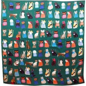 Foulard carré portraits chats
