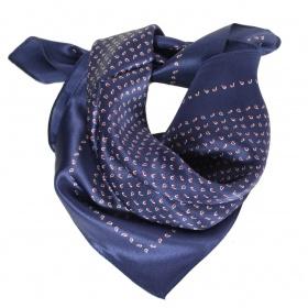 Carré en soie 50cm bleu
