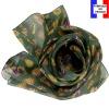 Foulard soie Empreintes vert