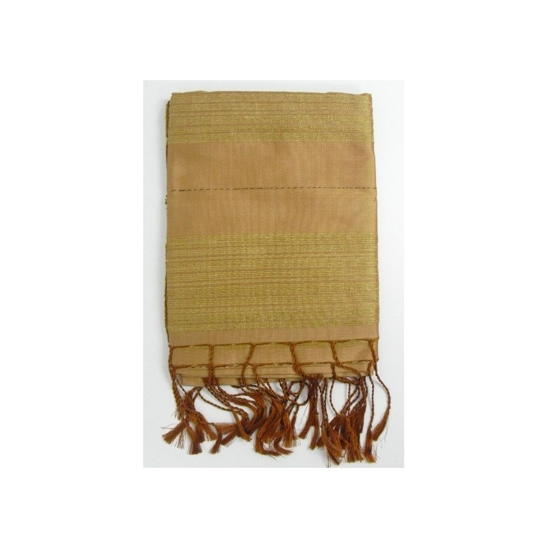Etole en soie de Thaïlande beige