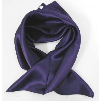 Petit carré en soie violet - qualité sup