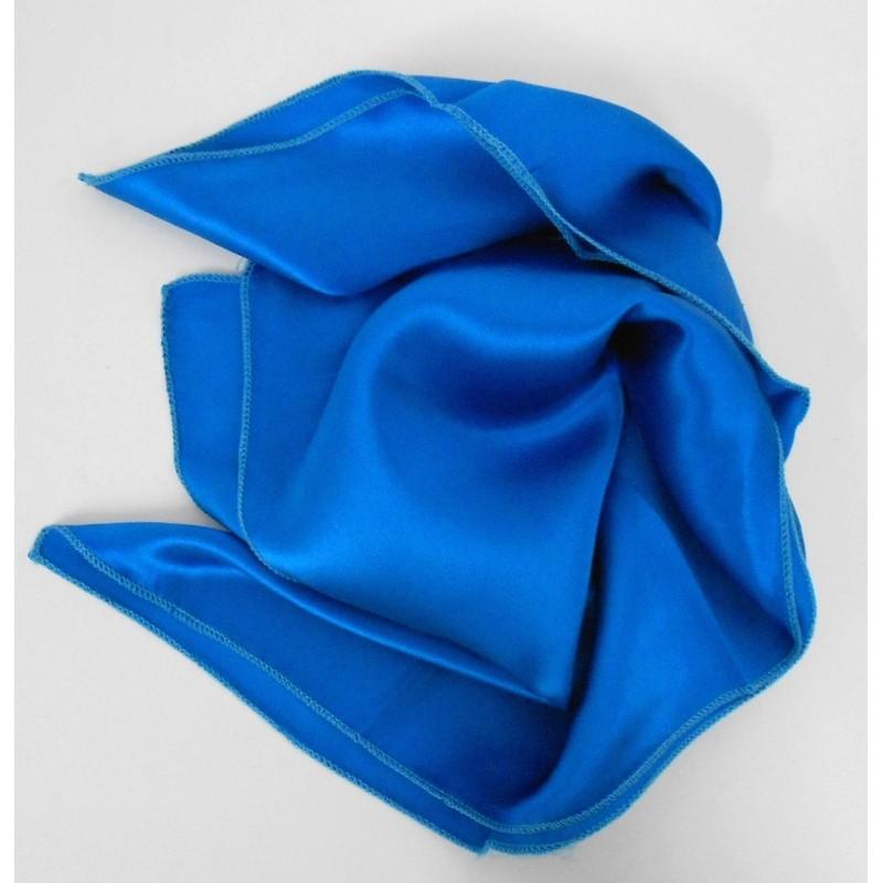 Petit carré en soie bleu - qualité sup