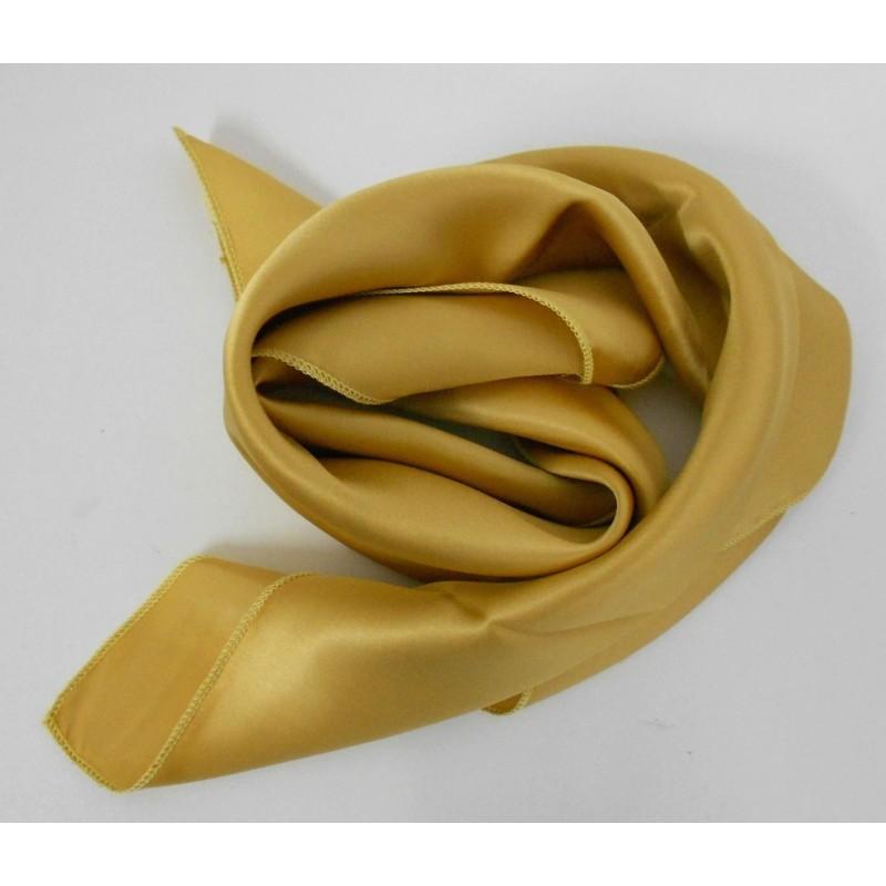 Petit carré en soie or - qualité sup