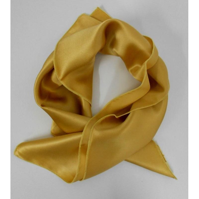 Petit carré en soie or - qualité sup d8e1c516ed8