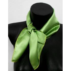 Petit carré en soie vert anis - qualité sup 4475430f051