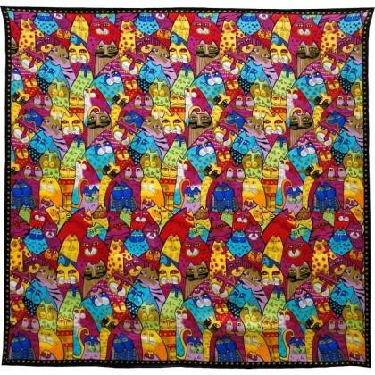 Foulard carré motif tableau