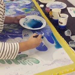 foulard peint à la main
